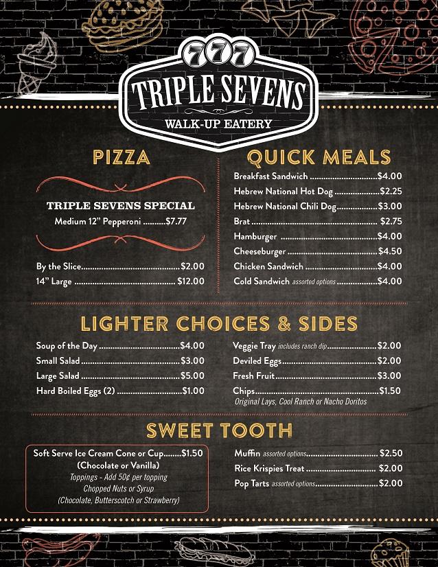 Triple Sevens Walk-Up Eatery Menu – Thief River Falls